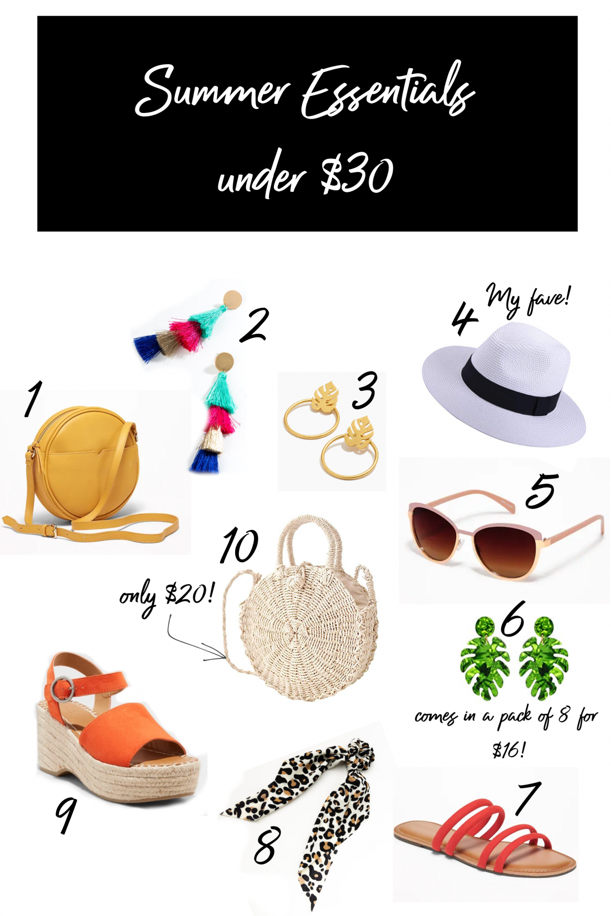 10 Essential Summer Accessories under $30