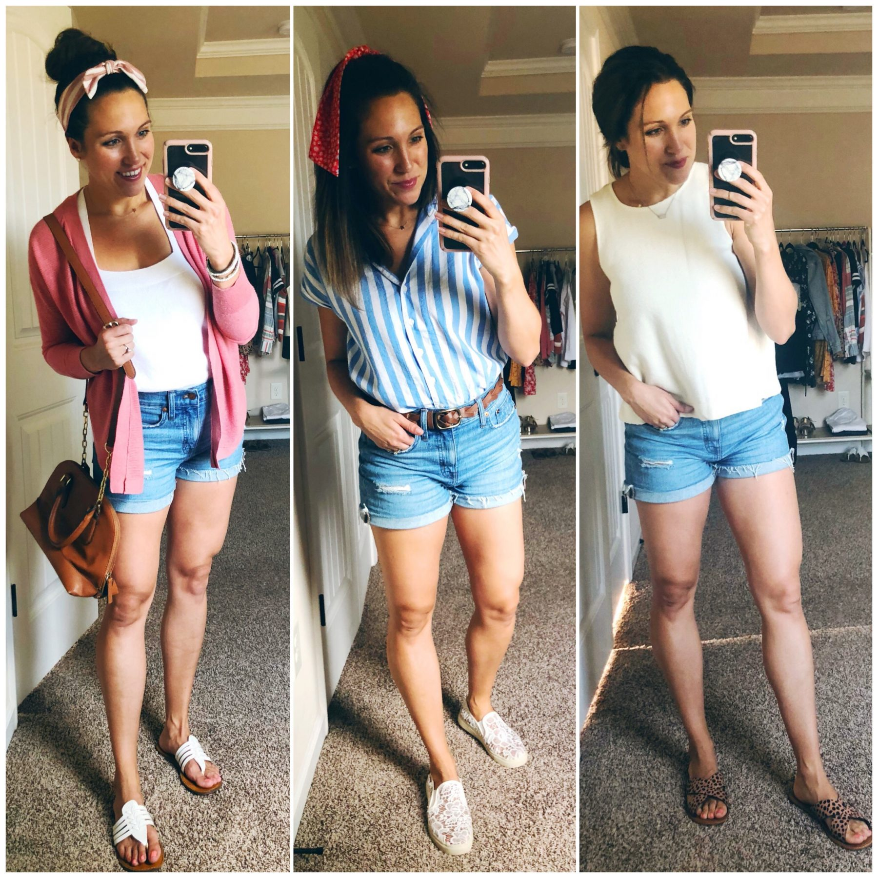 Madewell Denim Shorts 3 Ways
