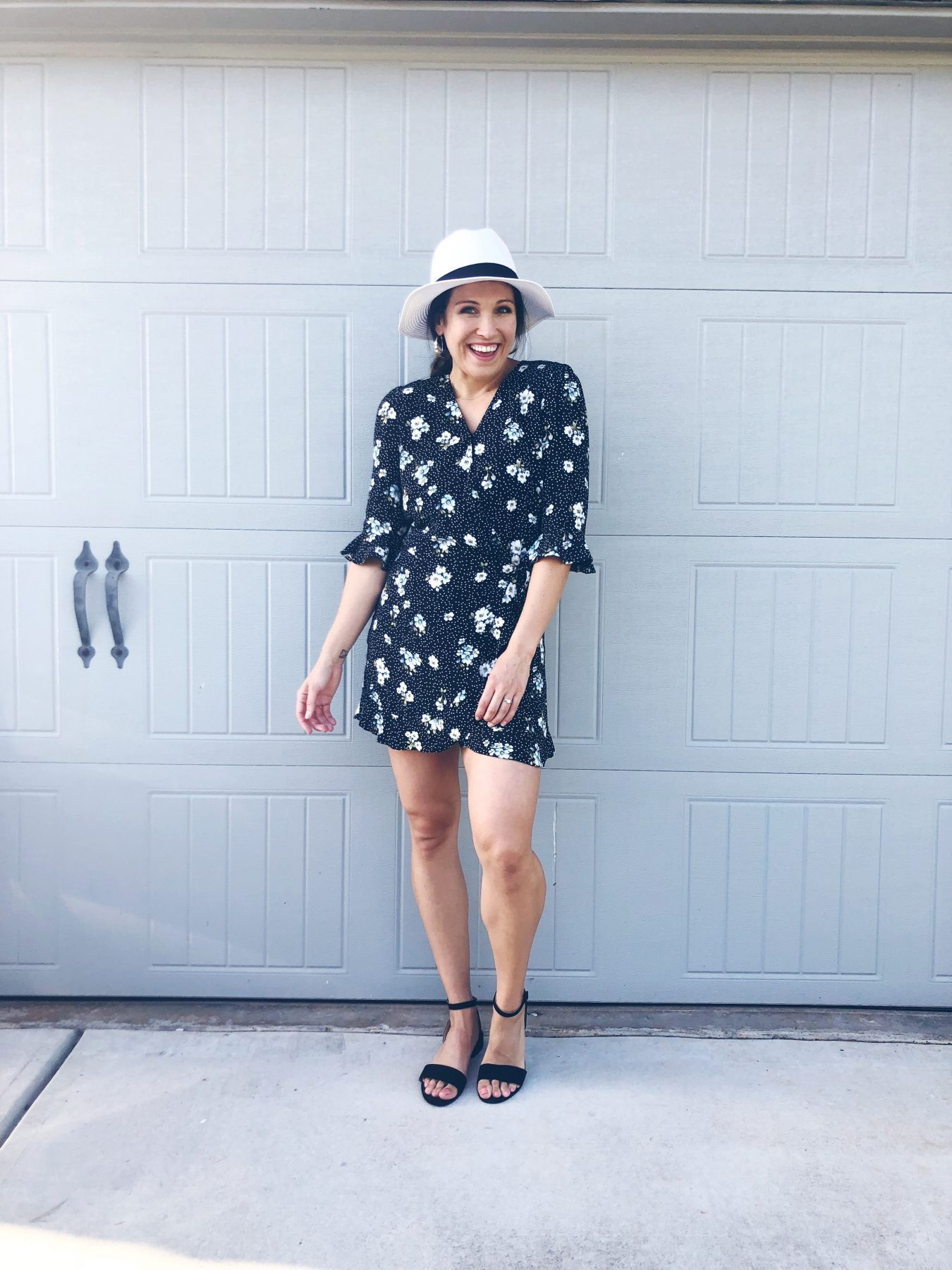 Summer Capsule Loft Floral Wrap Dress