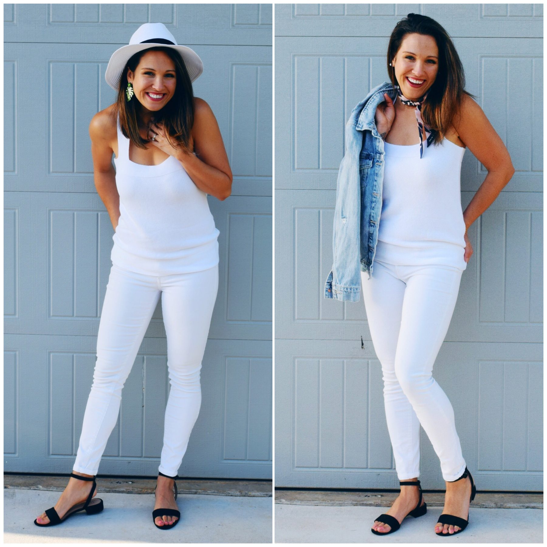 White on White Summer Outfits