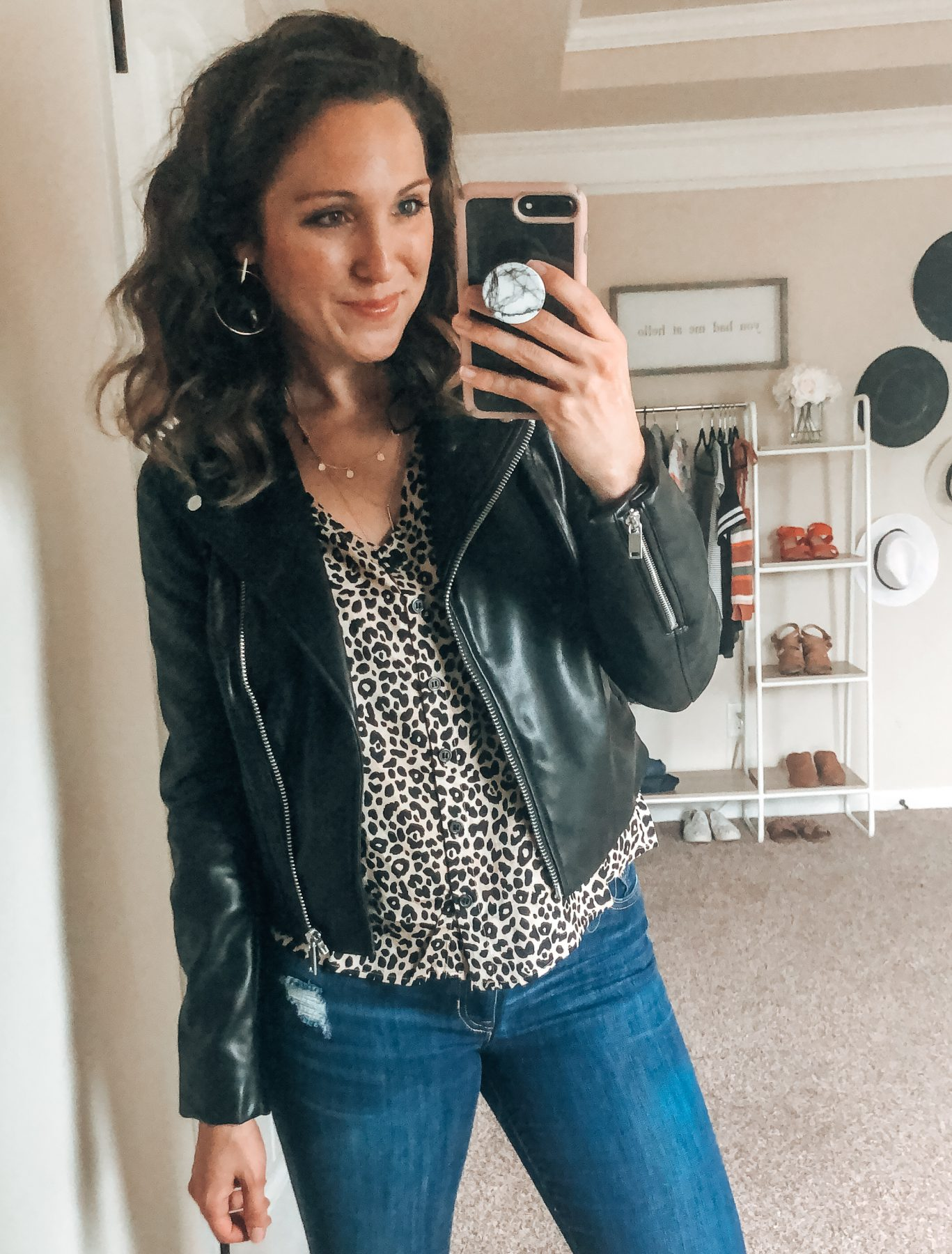 H&M Fall Style Session Leopard Top