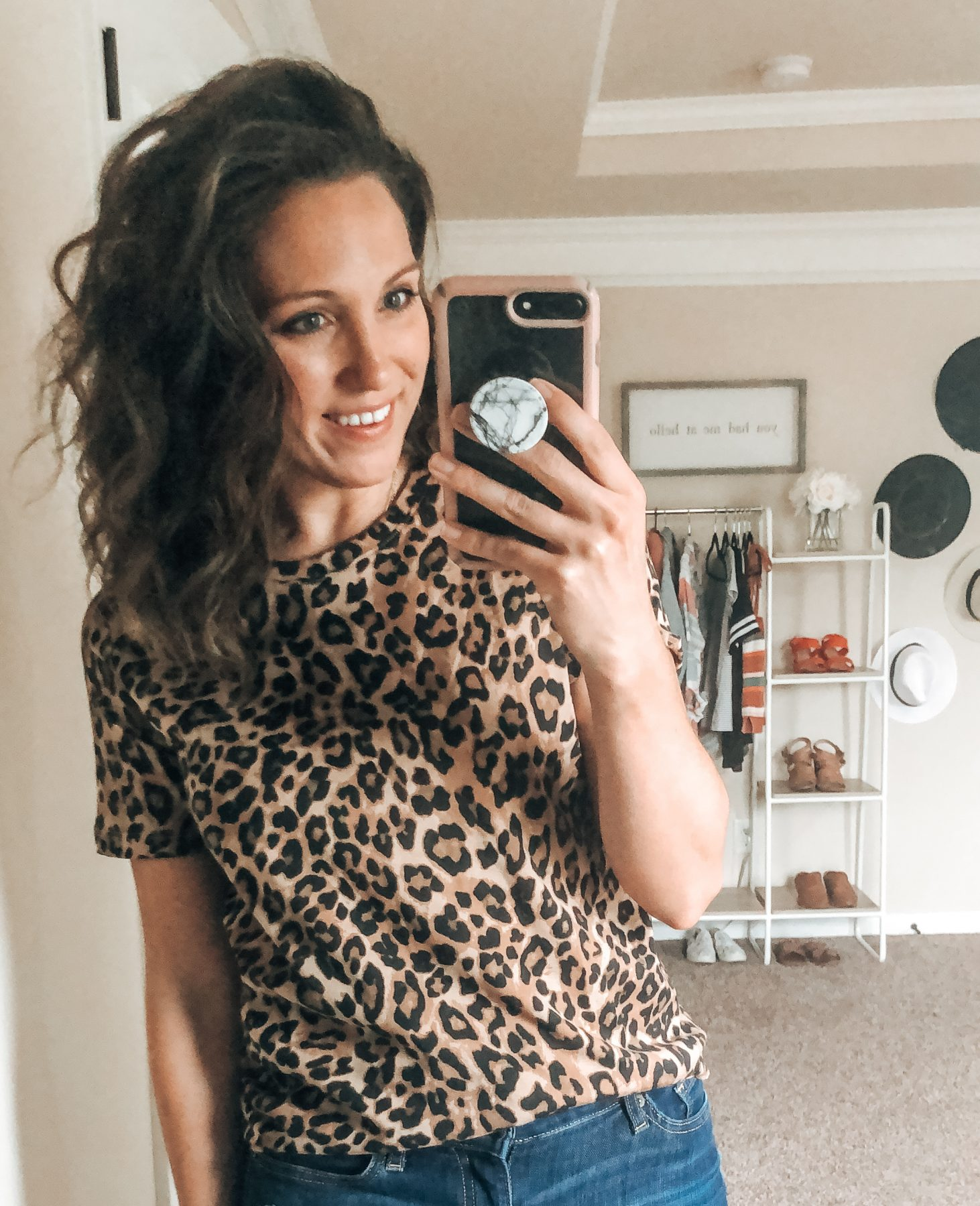 H&M Fall Style Session Leopard Tee
