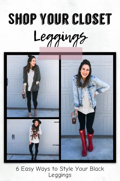 6 Easy Ways to Style Black Leggings