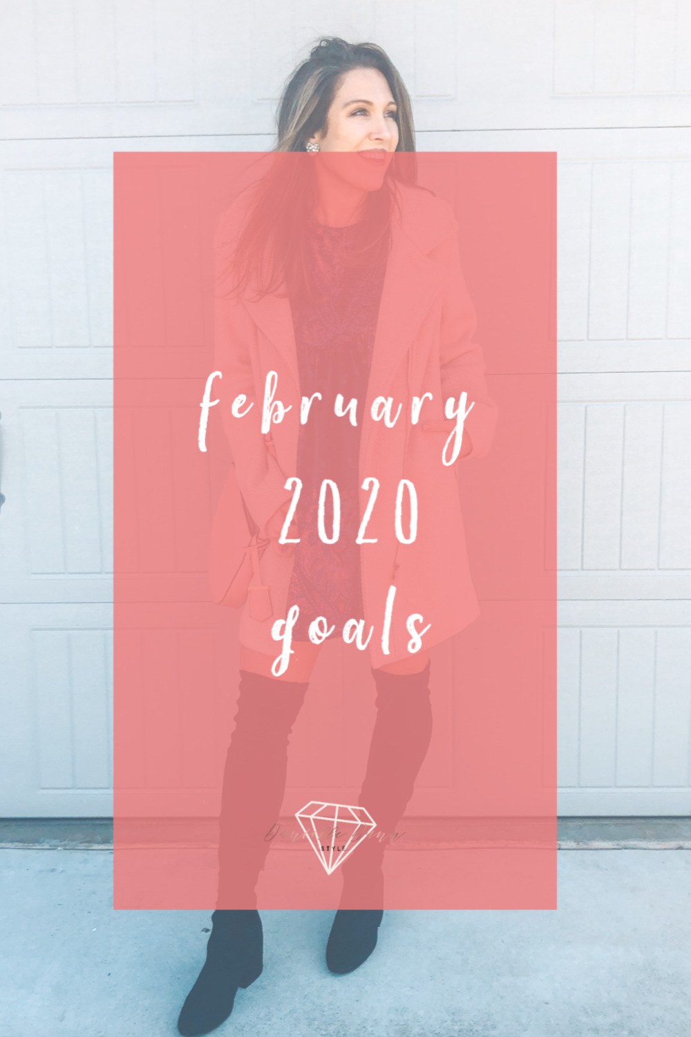 february 2020 goals + valentines day outfit