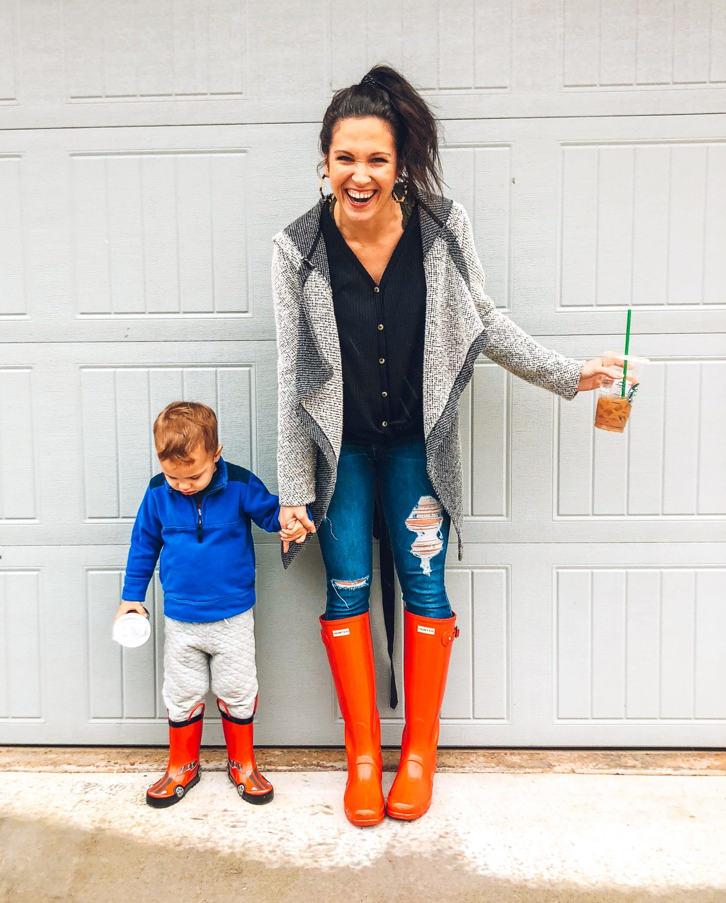 Red Hunter Boots Styled Easy Ways; Mommy & Me Fashion
