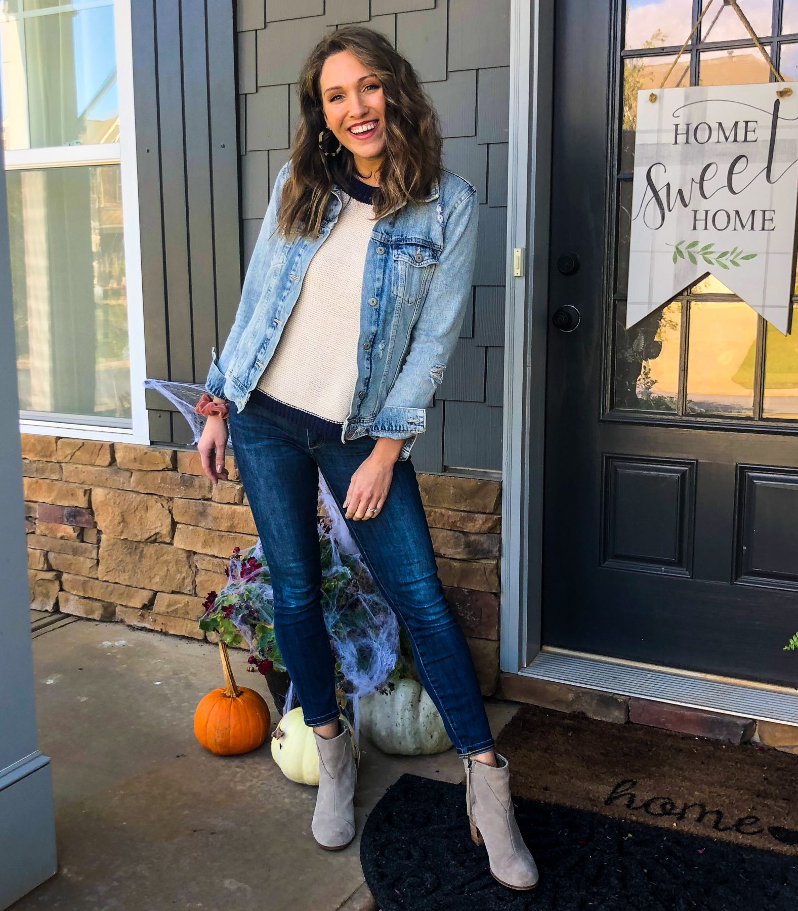 Styling Skinny Jeans; Madewell; Anthropologie; Old Navy