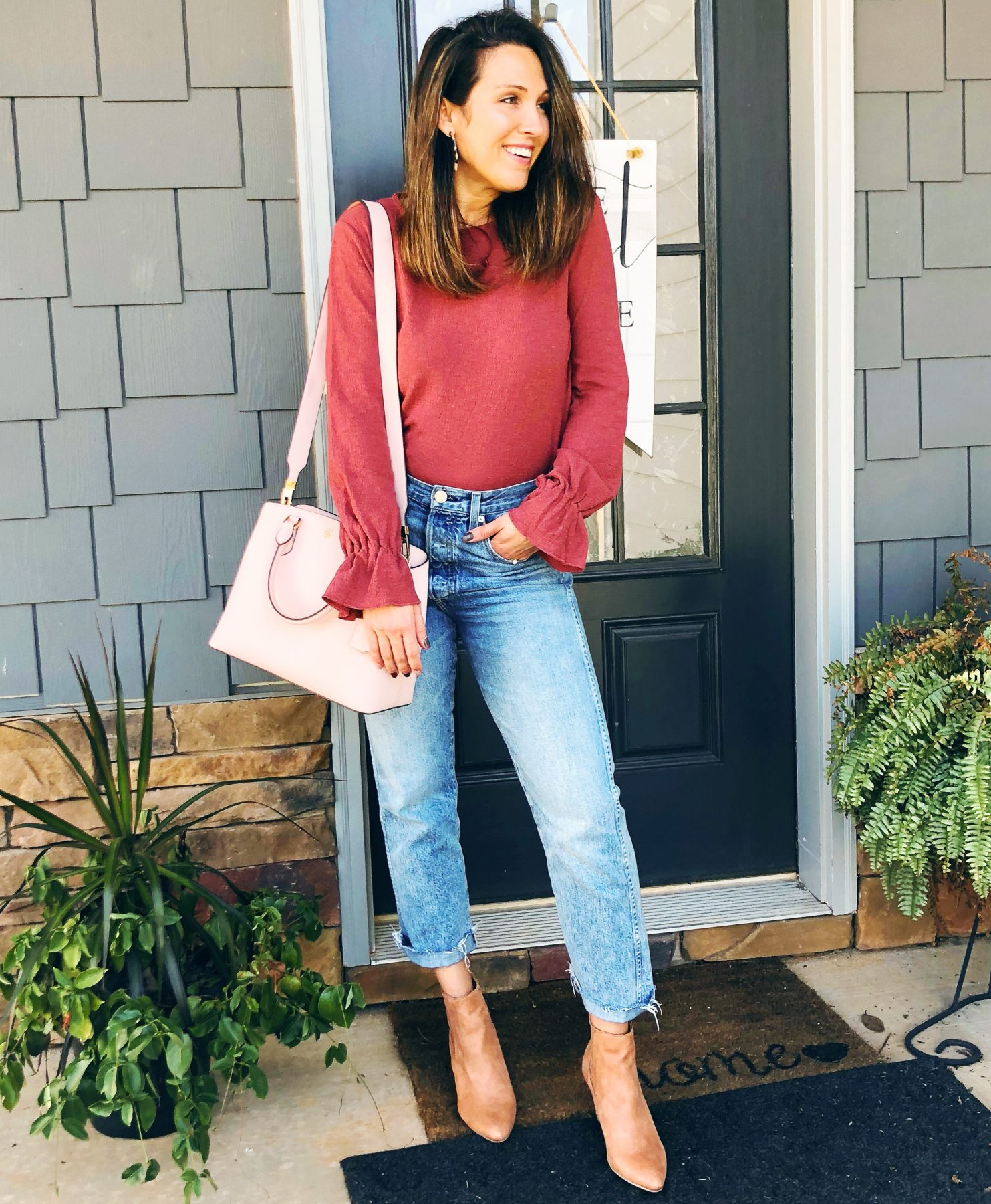 Styling straight leg denim; Old Navy; Madewell; LOFT