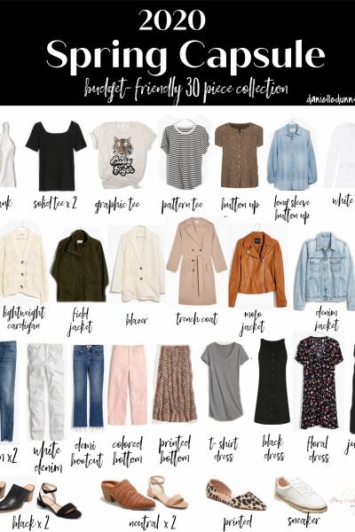 2020 Casual Spring Capsule Wardrobe